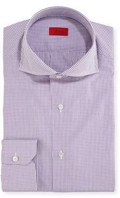 Isaia Graph-Check Cotton Dress Shirt