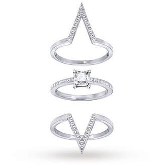 Swarovski Funk Ring Set - Ring Size L