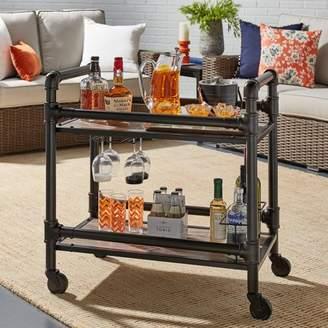 Generic Weston Home Dark Bronze Metal and Wood Kitchen Cart