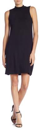 Joan Vass Mock Neck Sleeveless Knit Dress