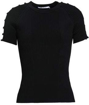 Alexander Wang Cutout Ribbed Stretch-knit Top