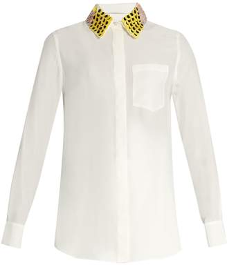 Altuzarra Chica detachable-collar long-sleeved shirt