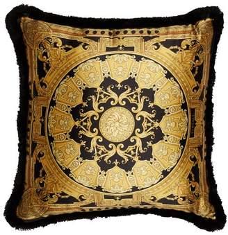 Versace - Baroque Silk Cushion - Black Gold