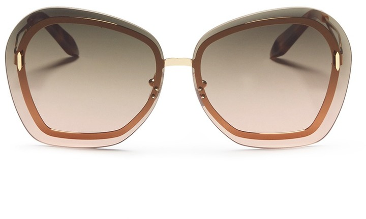 Victoria Beckham 'Floating Butterfly' oversized angular metal sunglasses