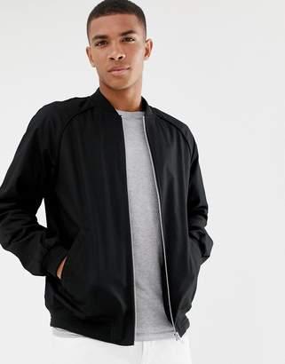 Asos Design DESIGN bomber jacket in black