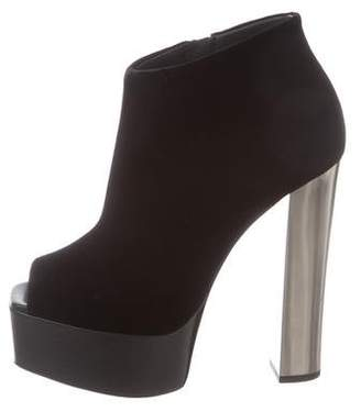 Giuseppe Zanotti Peep-Toe Platform Ankle Boots w/ Tags