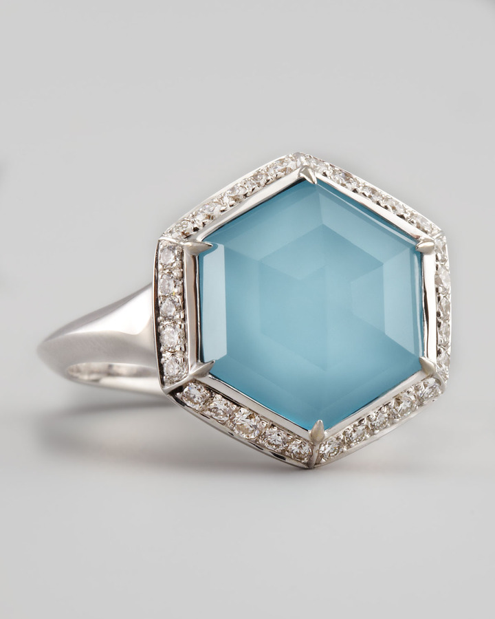 Stephen Webster Pave Diamond Art Deco Ring
