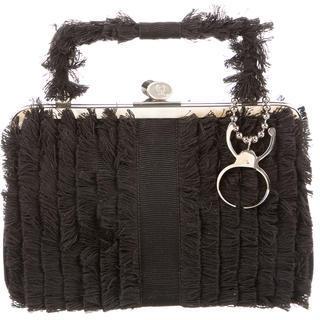 Alexander McQueenAlexander McQueen Fringe-Accented Handle Bag