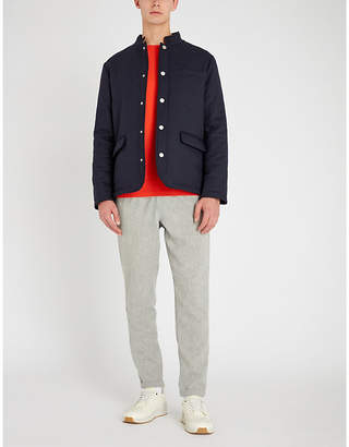 Eleventy Padded wool and silk-blend jacket