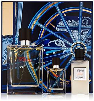 Hermes Eau de Toilette SPRAY 3.3 OZ & AFTERSHAVE BALM 1.35 OZ & EDT SPRAY .42 OZ