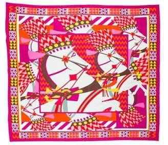 Hermes Chevaux de Karnak Silk Jersey Scarf