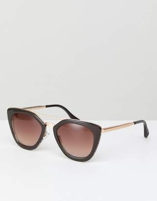 A. J. Morgan AJ Morgan Cat Eye Sunglasses In Brown