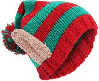 0a1ce7ff397 Universal Textiles Adults Unisex Knitted Christmas Design Winter Bobble Hat  With 3D Ears