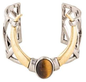 House Of Harlow Tiger's Eye Open Weave Horn Cuff