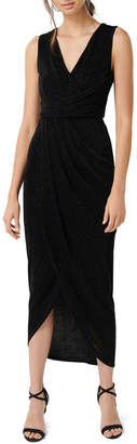 Forever New Amelia Drape Glitter Dress
