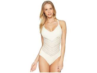 Robin Piccone Perla V-Neck One-Piece