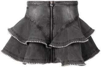 Philipp Plein short ruffled skirt