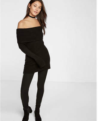 Express plush jersey off the shoulder sweater $59.90 thestylecure.com