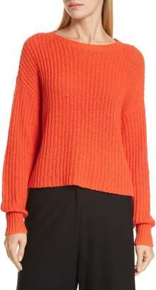 Eileen Fisher Crewneck Crop Shaker Sweater