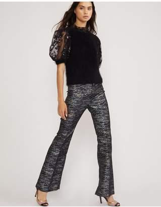 Cynthia Rowley Stella Metallic Flare Pant