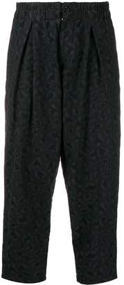 YMC cropped embroidered trousers