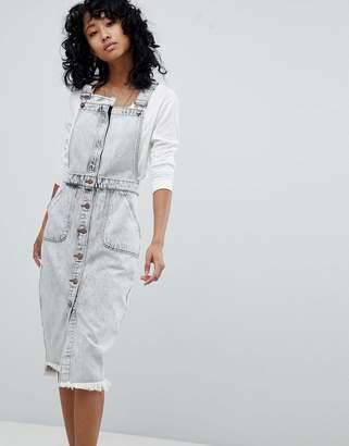 One Teaspoon Denim Pinafore Dress