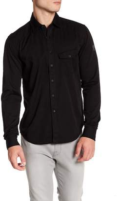 Belstaff Steadway Greystone Trim Fit Woven Shirt