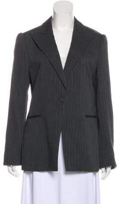 Giorgio Armani Wool Peaked-Lapel Blazer