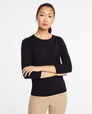 Ann Taylor Lace Applique Sweater