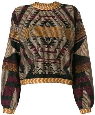 Etro geometric print jumper