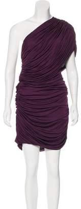 Giambattista Valli Ruched One-Shoulder Dress