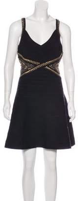 Herve Leger Ayia Embellished Dress