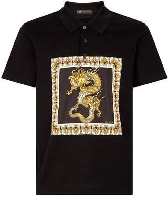 Versace Dragon Square Polo Shirt