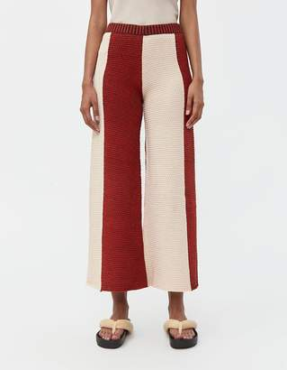 Eckhaus Latta Knit Culotte in Peach and Red