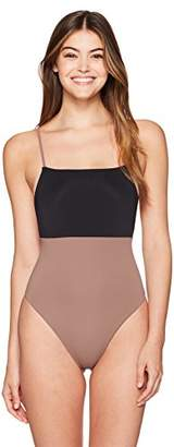 Mara Hoffman Women's High Cut One Piece Swimsuit