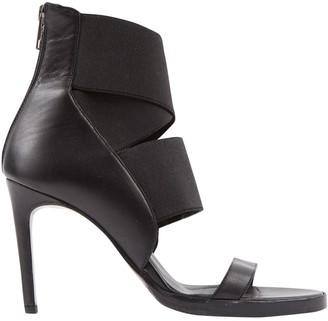 Helmut Lang Black Leather Sandals