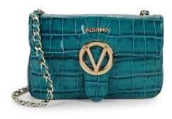 Mario Valentino Croco-Embossed Crossbody Bag