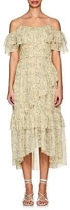 Ulla Johnson Women's Penninah Floral Silk Georgette Midi-Dress