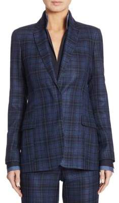 Akris Lapis Plaid Jacket