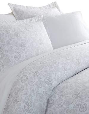 Blissful Bedding Premium Ultra Soft Three-Piece Coarse Paisley Print Duvet Cover Set