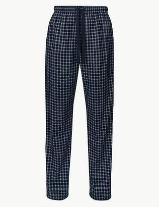 Marks and Spencer Checked Long Pyjama Bottoms