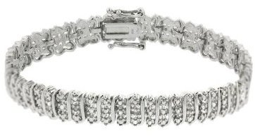 Sterling Silver Diamond Accent Tennis Bracelet