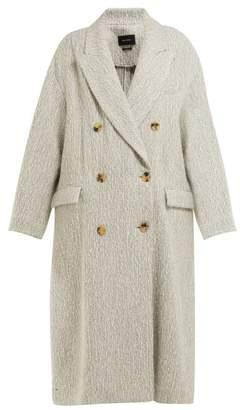 Isabel Marant Habra Alpaca Bend Blanket Coat - Womens - Ivory