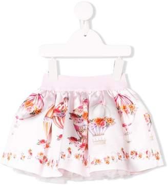 MonnaLisa floral balloon print skirt