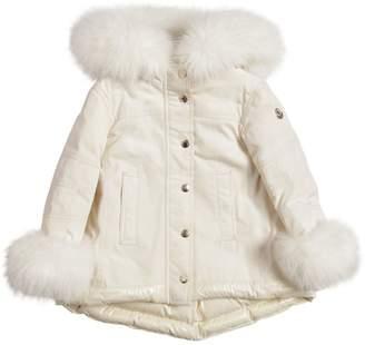 Moncler Nylon W/ Fox Fur Down Coat