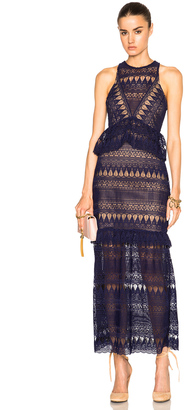 self-portrait Teardrop Guipere Paneled Maxi Dress $675 thestylecure.com