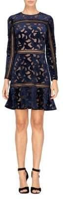 Adelyn Rae Velvet Lace Dress