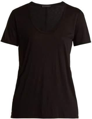 The Row Scoop Neck T Shirt - Womens - Black