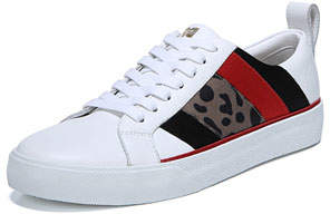 Diane von Furstenberg Tess Leather Sneakers with Mixed Panels