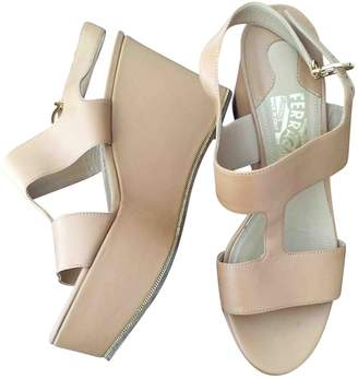 Salvatore Ferragamo Beige Leather Sandals